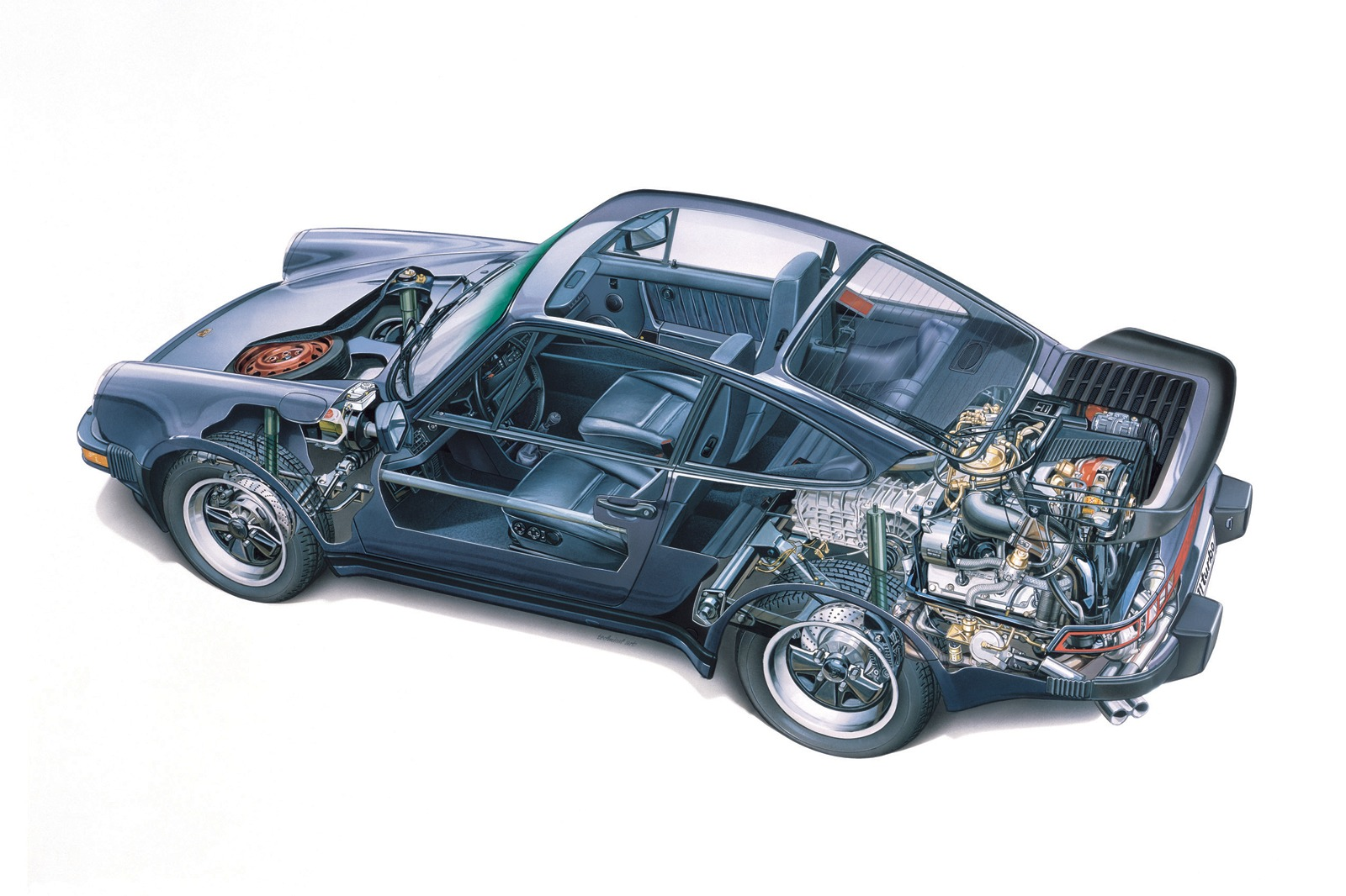 1988 porsche 911 turbo cutaway from bavaria with love
